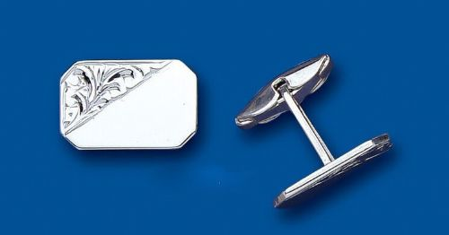Cufflinks Rectangular Solid Sterling Silver